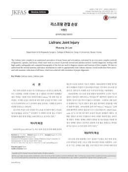 리스프랑 관절 손상 - Journal of Korean Foot and Ankle Society