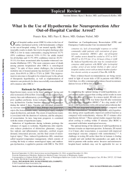 What Is the Use of Hypothermia for Neuroprotection After Out