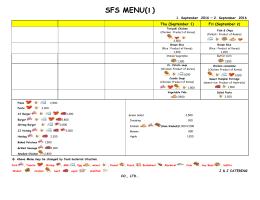 SFS MENU(1) - Seoul Foreign School