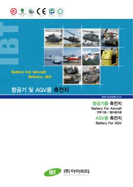 항공기 및 AGV용 축전지