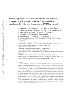 Secondary radiation measurements for particle therapy applications