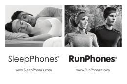 www.SleepPhones.com www.RunPhones.com