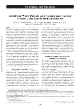 Identifying Which Patients With Asymptomatic Carotid