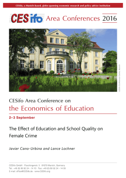 The Effect of Education and School Quality on Female Crime