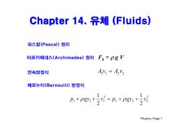 Chapter 14. 유체 ((Fluids)