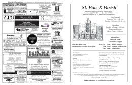 St. Pius X Parish - parishbulletins.com