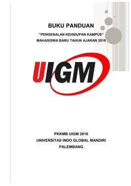 buku panduan - Universitas Indo Global Mandiri