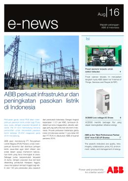 ABB perkuat infrastruktur dan peningkatan pasokan listrik di Indonesia