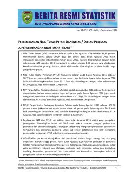 Unduh BRS Ini - BPS Prov Sumatera Selatan