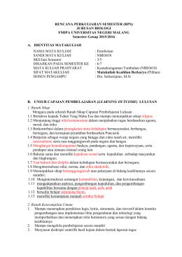 RPS - Jurusan Biologi FMIPA