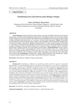 Patofisiologi kasus skleroderma pada disfagia esofagus