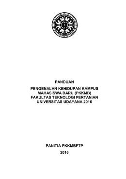 buku pedoman pkkmb 2016 - Fakultas Teknologi Pertanian