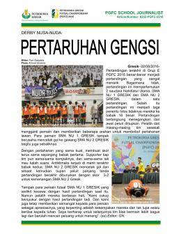 derby nusa-nuda: pgfc school journalist - PGFC