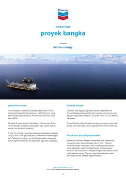 proyek bangka - Chevron di Indonesia