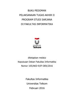 Buku Panduan Tugas Akhir II S1 Fakultas