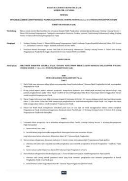 peraturan direktur jenderal pajak nomor per
