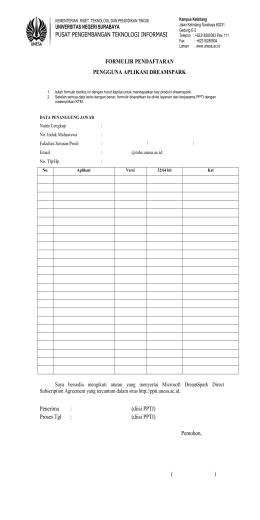 formulir pendaftaran Dreamsprak
