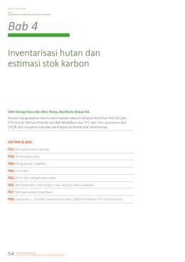 Inventarisasi hutan dan estimasi stok karbon