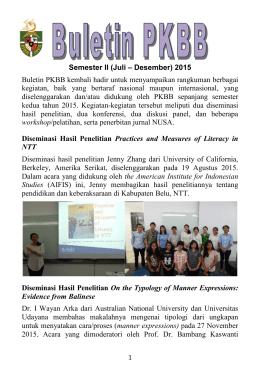 semester ii 2015 - Universitas Katolik Indonesia Atma Jaya