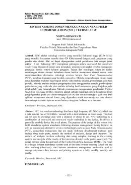 sistem absensi dosen menggunakan near field communication (nfc)