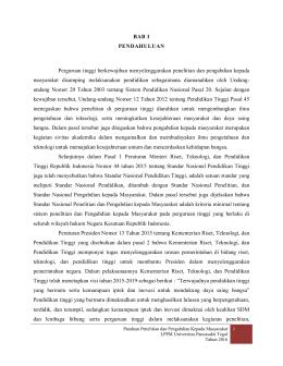 PANDUAN PENELITIAN DAN PENGABDIAN 2016