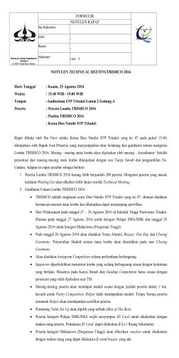 Notulen TM 25 Agustus 2016 - PMB STP Trisakti