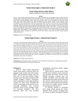 Stroke Hemoragik e.c Hipertensi Grade II Hemorrhagic Stroke e.c