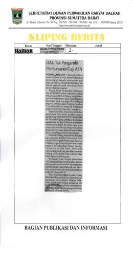 KLIP RI - Dewan Perwakilan Rakyat Daerah