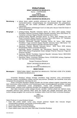 Peraturan Rektor Nomor 318/PER/2008