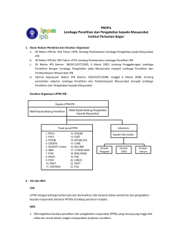Profil Lembaga Periset - LPPM-IPB