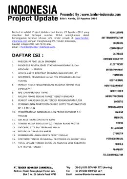 DAFTAR ISI : - Tender