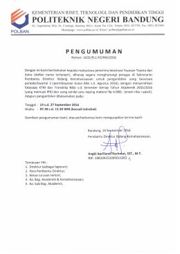 - Politeknik Negeri Bandung