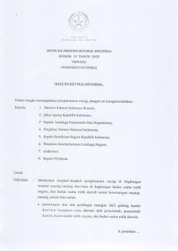 Instruksi Presiden Republik Indonesia Nomor 10 - djlpe