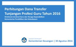 Perhitungan Dana Transfer TPG 2016