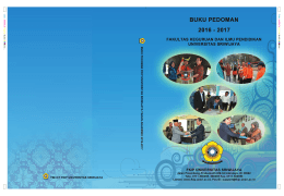 buku pedoman fkip 2016 - FKIP Unsri