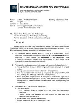 Unduh Surat Pemanggilan Peserta Uji Kompetensi Periode