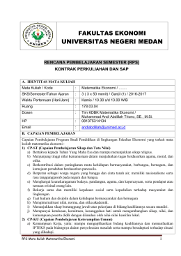 universitas negeri medan - Fakultas Ekonomi UNIMED