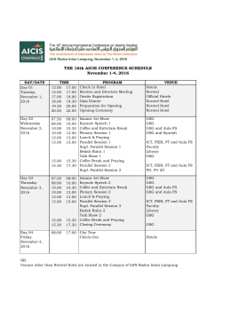 conference schedule at glance - AICIS 2016