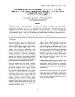 Jurnal Farmasi Higea, Vol. 4, No. 1, 2012 50 PENGARUH