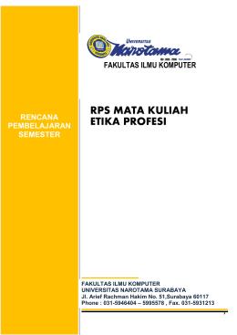 RPS-Etika Profesi Gasal 2015-2016