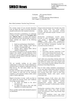 SMBCI News - PT Bank Sumitomo Mitsui Indonesia