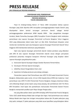 PDF Press Release LKPD Provinsi