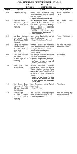 Acara tgl 6 September 2016 - PPID Provinsi Sumatera Selatan