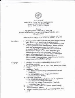 sk pw malang raya 2011-2015 - IKA- UM