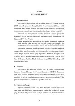 18 BAB III METODE PENELITIAN A. Desain Penelitian Penelitian ini