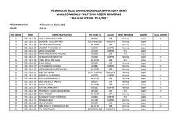 nim - Politeknik Negeri Semarang