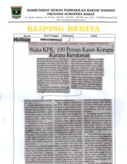 Waka kPK: 100 Persen Kasus Korups