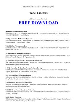 [ebook] tabel liliefors pdf