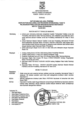SK Insentif Publikasi Ilmiah Tahap III Tahun 2016 - LPPM