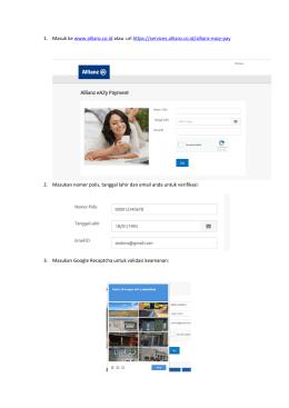 Panduan Allianz eAZy Payment